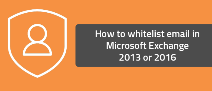 How to whitelist email in Microsoft Exchange 2013 or 2016