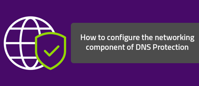 How to configure the networking component of DNS Protection